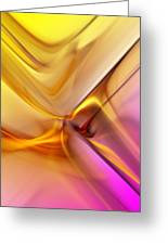 Golden Abstract 042711 Greeting Card