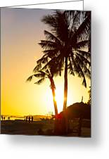 Golden Beach Tropics Greeting Card