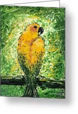Golden Bird Greeting Card