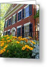 Golden Blooms At The Dahlonega Gold Museum Greeting Card