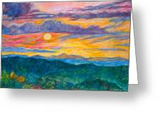 Golden Blue Ridge Sunset Greeting Card