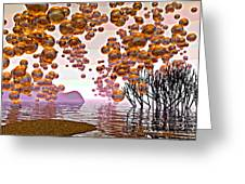Golden Bubbles Greeting Card