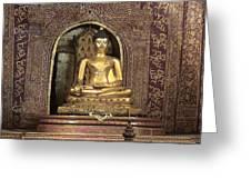 Golden Buddha Of Chang Mai Greeting Card