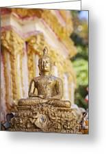 Golden Buddha Ornament Greeting Card