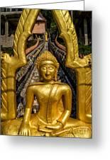 Golden Buddhas Greeting Card