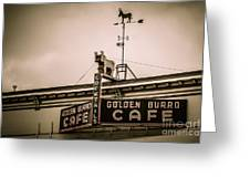Golden Burro Cafe 2 Greeting Card