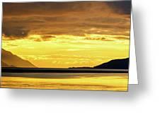 Golden Greeting Card