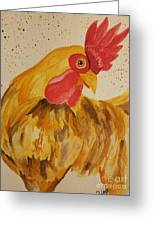 Golden Chicken Greeting Card