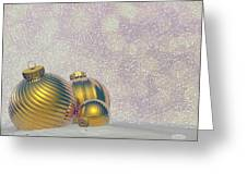 Golden Christmas Balls - 3d Render Greeting Card