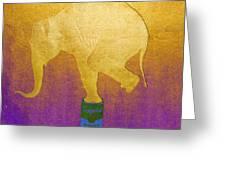 Golden Circus Greeting Card