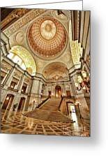 Golden City Hall Greeting Card