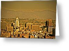 Golden City Hall La Greeting Card