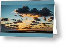 Golden Cloud Sunrise Delray Beach Florida Greeting Card