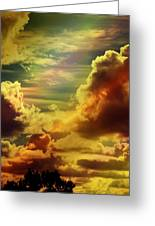 Golden Clouds Greeting Card