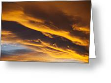 Golden Clouds Greeting Card by Garry Gay