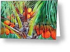 Golden Coconuts Greeting Card