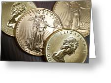 Golden Coins Greeting Card