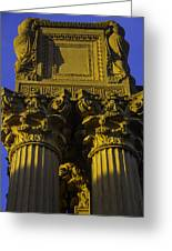 Golden Columns Palace Of Fine Arts Greeting Card