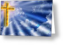 Golden Cross Greeting Card
