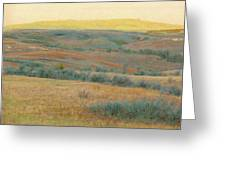 Golden Dakota Horizon Dream Greeting Card