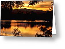 Golden Day At The Lake Greeting Card