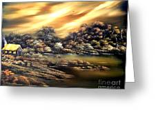 Golden Daze.sold Greeting Card by Cynthia Adams