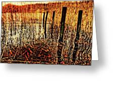 Golden Decay Greeting Card