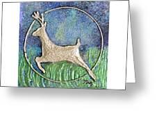 Golden Deer Greeting Card