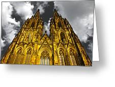 Golden Dome Of Cologne Greeting Card by Thomas Splietker