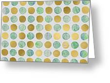 Golden Dots Greeting Card