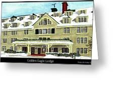 Golden Eagle Lodge Greeting Card