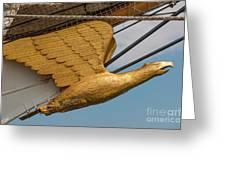 Golden Eagle Masthead Greeting Card