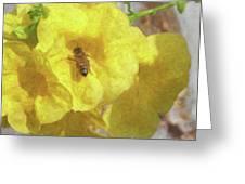 Golden Elder And Bee Greeting Card