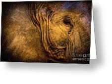 Golden Elephant Greeting Card
