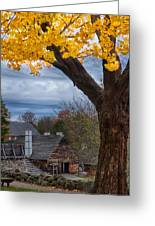 Golden Fall Colors Over Iron Works Greeting Card