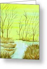 Golden Fall Day  Greeting Card