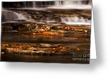 Golden Falls Greeting Card