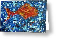 Golden Fish Greeting Card