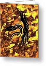Golden Flight Contemporary Abstract Greeting Card