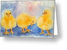 Golden Fluff Greeting Card