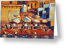 Golden Ganges Greeting Card