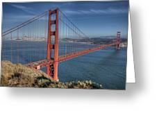 Golden Gate Greeting Card by Andreas Freund