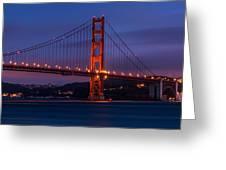 Golden Gate At Dusk Greeting Card