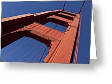 Golden Gate Bridge At An Angle Greeting Card by Garry Gay