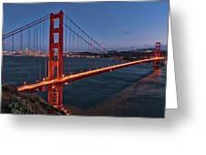 Golden Gate Bridge At Night Greeting Card