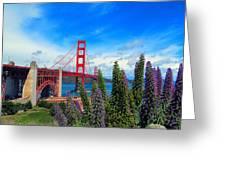 Golden Gate Bridge Five Greeting Card