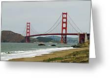 Golden Gate Bridge From Baker Beach Greeting Card