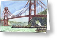 Golden Gate Bridge From Fort Baker, Ca Greeting Card