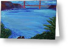 Golden Gate Bridge From Lincoln Park Greeting Card