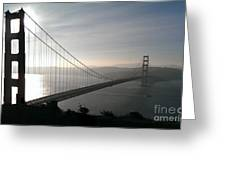Golden Gate Bridge From Marin County Greeting Card